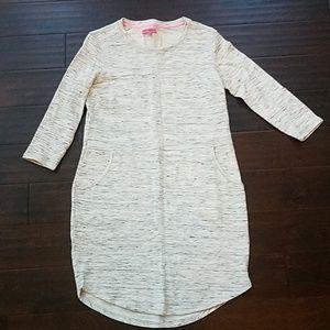 Betsy Johnson gray sweatshirt dress